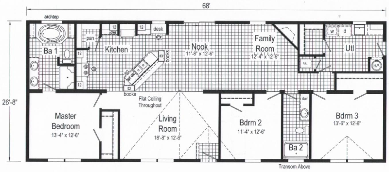 Special offers on modular and mobile homes b and b homes for 12x40 mobile home floor plans